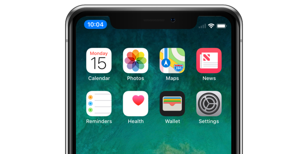 iPhone X - Status-Button