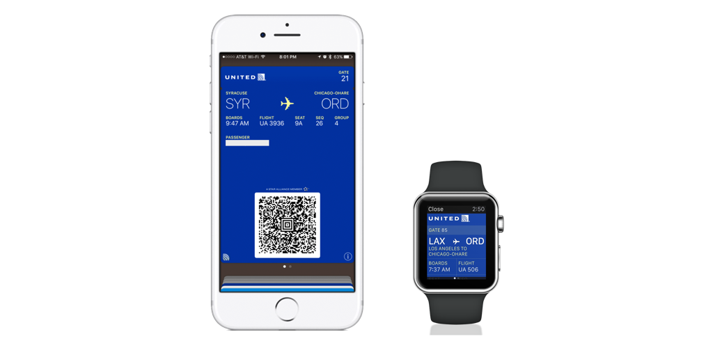 Boarding Pass in Apple Wallet