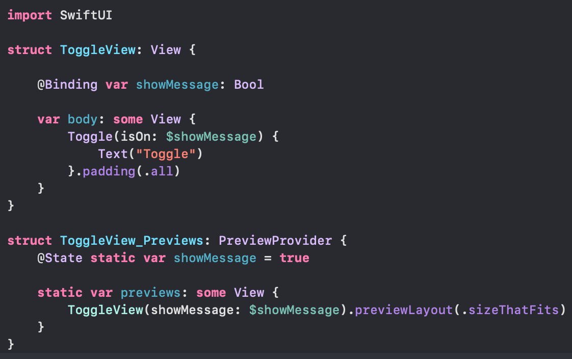 SwiftUI binding toggle