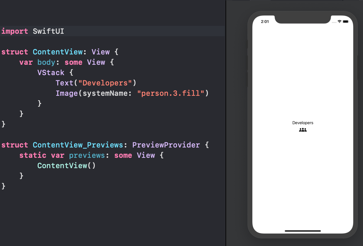SwiftUI first elements