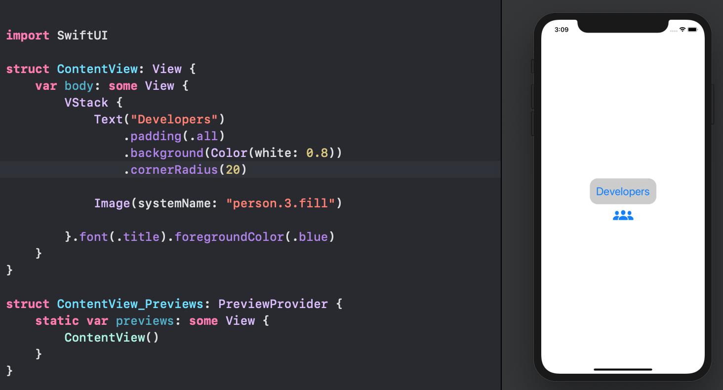 SwiftUI first elements correct cascade